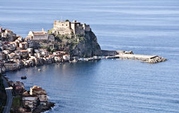 Calabrian coast. Overview from a stretch of the Calabrian coast Royalty Free Stock Photos