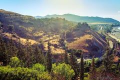 Calabrian krajobraz Zdjęcia Stock