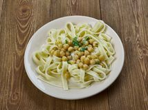 Calabrian pasta with chickpea Stock Images
