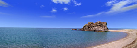 Calabrian rock sea. View of calabrian violet coast -Italy Stock Photos