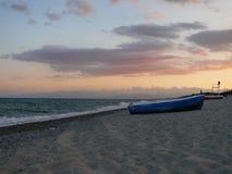 Calabrian sunset. Peaceful evening on calabrian beach Stock Photos