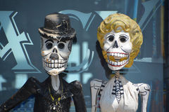 Calaca. PUERTO VALLARTA MEXICO MAY 11 2016: Calaca a colloquial Mexican Spanish name for skeleton) is a figure of a skull or skeleton commonly used for Royalty Free Stock Photos