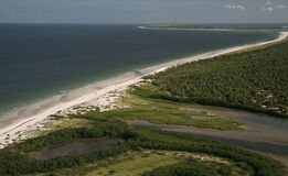 Caladesi Island. Aerial view of Caladesi Island, Florida Stock Photo
