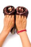 Calçados das senhoras Fotografia de Stock Royalty Free