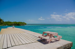 Calafate Belice el Caribe de Caye imagen de archivo