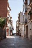 Calafell semesterortstad i Catalonia, Spanien Royaltyfria Bilder