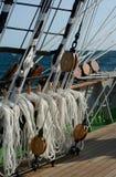 Calage d'un bateau de navigation photo libre de droits