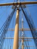 Calage de bateau à voiles Photo libre de droits