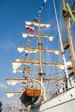 Calage de grand bateau de navigation Images stock