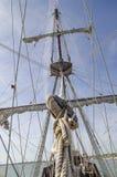 Calage de grand mât et de bateaux Photographie stock libre de droits