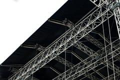 Calage en métal d'étape pour des concerts de musique ou d'autres événements image stock
