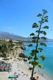 Calahonda海滩在西班牙 免版税库存照片