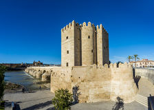 Calahorra Toren in Cordoba, Andalusia, Spanje Stock Foto's