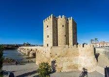 Calahorra torn i Cordoba, Andalusia, Spanien Arkivfoton