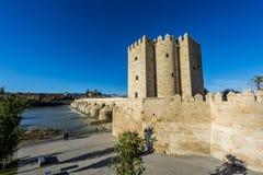 Calahorra Tower in Cordoba, Andalusia, Spain. Royalty Free Stock Photos