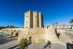 Calahorra Tower in Cordoba, Andalusia, Spain. Royalty Free Stock Photo