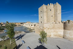 Calahorra Tower in Cordoba, Andalusia, Spain. Stock Images