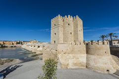 Calahorra Tower in Cordoba, Andalusia, Spain. Calahorra Tower (Torre de la Calahorra), a fortified gate built during the late 12th century by the Almohads to Royalty Free Stock Photography