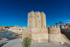 Calahorra Tower in Cordoba, Andalusia, Spain. Royalty Free Stock Images