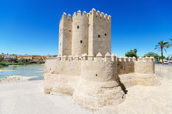 Calahorra tower, famous landmark in Cordoba, Andalusia, Spain. Royalty Free Stock Photography