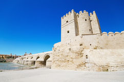 Calahorra tower, famous landmark in Cordoba, Andalusia, Spain. Royalty Free Stock Image