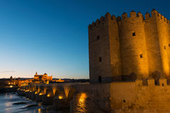 Calahorra Tower on the Roman bridge in Cordoba Royalty Free Stock Photos