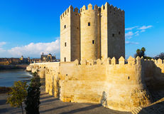 Calahorra Tower and Roman bridge  in Cordoba Stock Photo