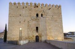 Calahorra Tower on the Roman Bridge in Cordoba Royalty Free Stock Image