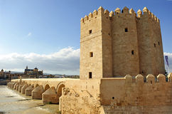 The Calahorra tower and Roman bridge, Guadalquivir River, Cordoba, Spain Royalty Free Stock Photography