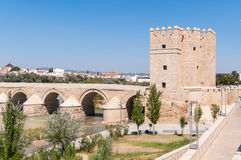 The Calahorra Tower in spanish Cordoba Royalty Free Stock Images