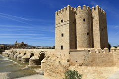 Calahorra Tower (Torre de la Calahorra), Cordoba, Andalusia, Spain. Calahorra Tower (Torre de la Calahorra), a fortified gate built during the late 12th century Stock Photo