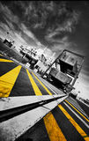 Calais-Fähre-Kanal lizenzfreies stockfoto