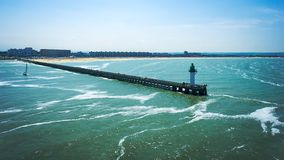 Calais pier. View of the Calais pier from the ferry boat Royalty Free Stock Images