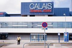 Calais-Terminal-Fähre stockbild