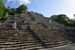 Calakmul Archeologische plaats in de Mexicaanse staat van Campeche stock fotografie