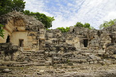 Calakmul VI. Ruins of a building as part of the mayan archaeological site of Calakmul, located in campeche, mexico stock photography