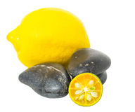 Calamansi, Lemon and Zen Stones II Stock Images