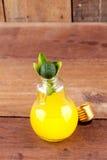 Calamansi sur l'ampoule avec l'orangeade photographie stock