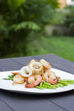 Calamar & camarão Imagem de Stock Royalty Free