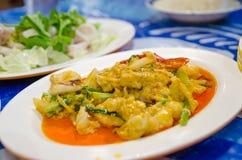 Calamar con el polvo de curry Imagen de archivo libre de regalías