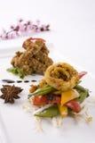 Calamar e vegetais Imagem de Stock Royalty Free