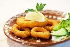 Calamar fritado Fotografia de Stock