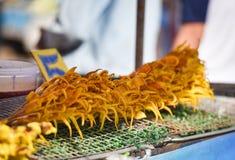 Calamar grelhado fotografia de stock