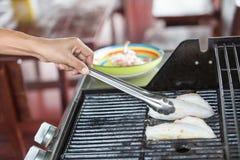 Calamar grelhado BBQ imagem de stock