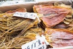 Calamar seco de los mariscos japoneses Foto de archivo