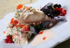 Calamar und Gemüse lizenzfreie stockfotografie