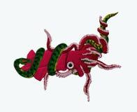 Calamar y anaconda Fotos de archivo libres de regalías