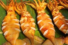 Calamares grelhados Foto de Stock Royalty Free