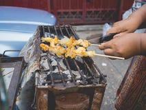 Calamares grelhados alimento da rua Foto de Stock Royalty Free