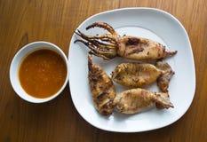 Calamares grelhados deliciosos Fotos de Stock Royalty Free